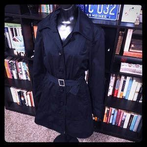 MICHAEL Michael Kors Black Belted Trench Coat